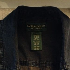 Lauren RL 1967  Denim Button Down Shirt